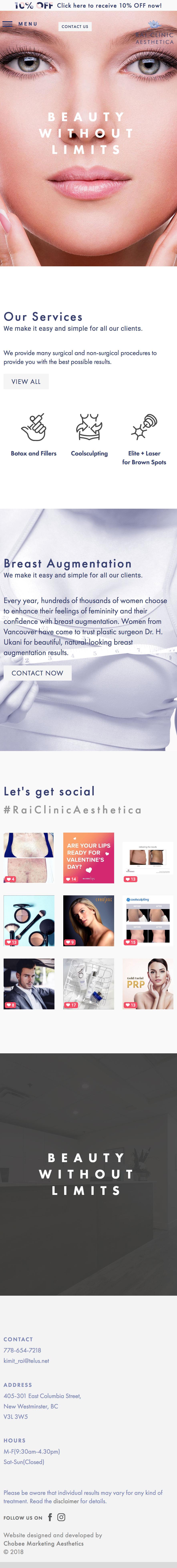 rai_clinic website