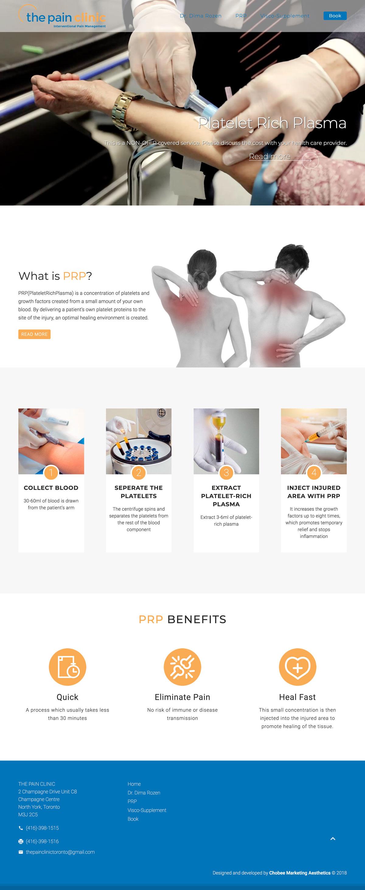 prp-toronto website